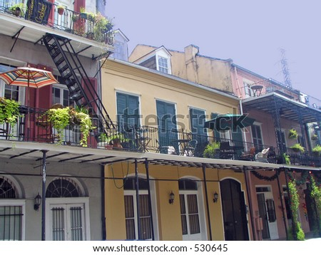 New Orleans French Quarters Building - stock photo