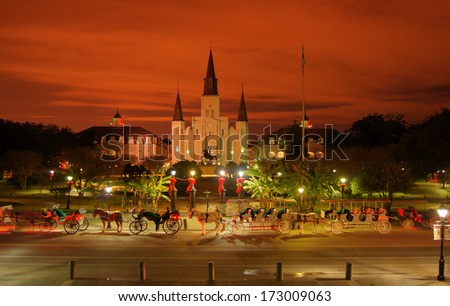 New Orleans' Jackson Square - stock photo