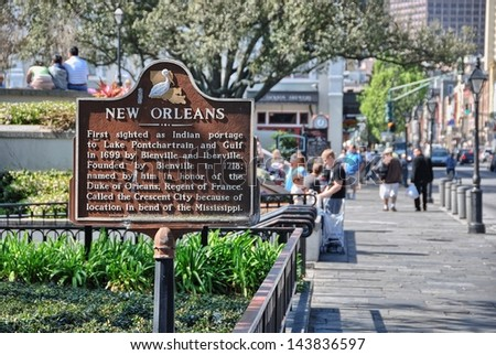 NEW ORLEANS - MAR 20: Tourists enjoy city life, March 20, 2008 in New Orleans. Nine million people visit the city every year.. - stock photo