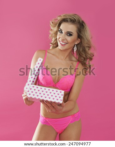 New perfect lingerie for me  - stock photo