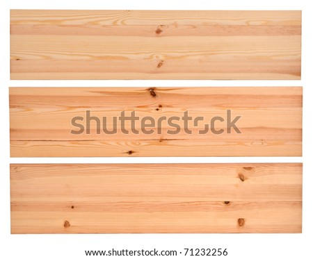 New planks isolated on white - stock photo