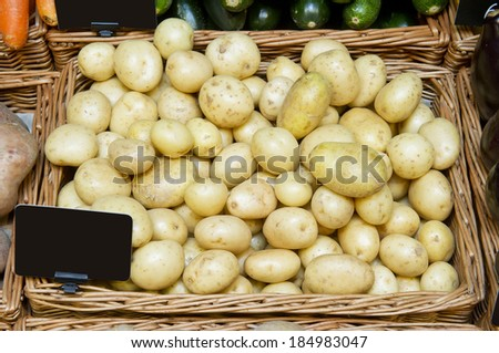 new potatoes in a store - stock photo