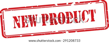 New product grunge rubber stamp on white background.  - stock photo