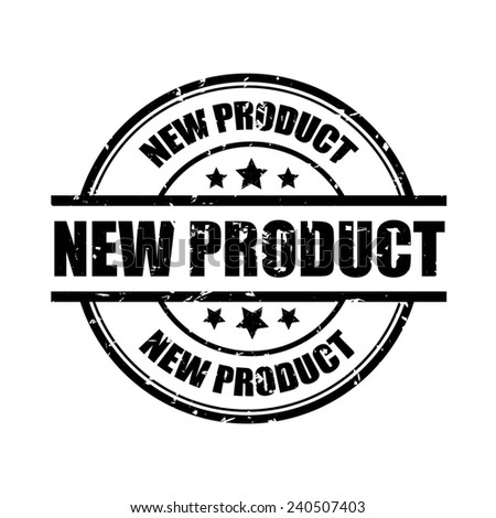 New Product Grunge Rubber Stamp with Star And Ribbon. (Sticker, Tag, Icon, Symbol).  - stock photo
