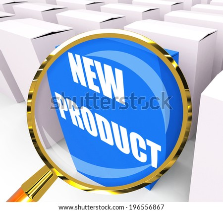 New Product Packet Indicating Newness and Advertisement - stock photo