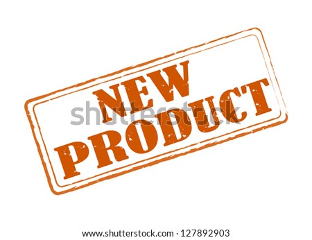 New product red stamp - stock photo