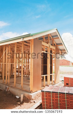 Stock photo new residential construction home framing for House framing 101