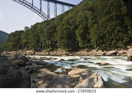 New River Gorge Bridge in West Virginia. - stock photo