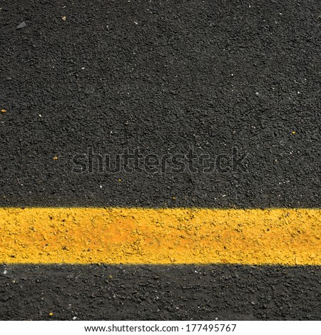 New road, surface a new asphalt road way - stock photo