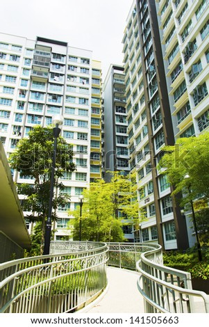 New Singapore government apartments - stock photo