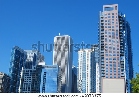 New skyscrapers in Chicago - stock photo