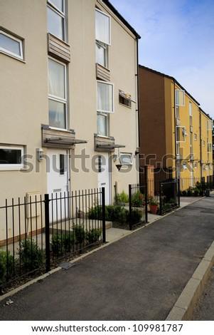 New social housing in Bristol, UK - stock photo
