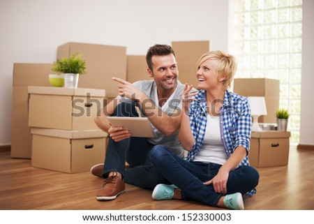 New solutions for apartment decoration - stock photo