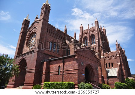 NEW SOUTH WALES, AUSTRALIA - JANUARY 24 : Classic Building in the Rocks City at Sydney on January 24, 2015 in New South Wales, Australia. - stock photo