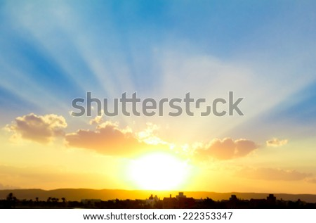 New Sun is Born  - stock photo