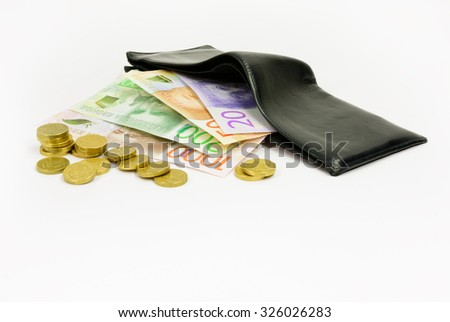 New swedish bank notes and wallet. NOTE: the new 2015 model. - stock photo