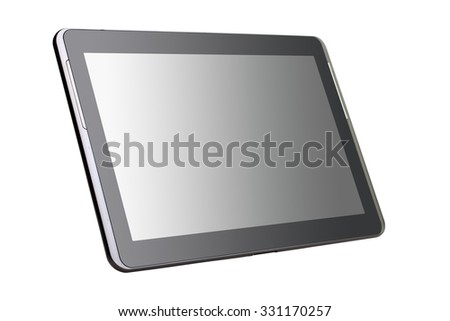 new tablet isolated on white background - stock photo