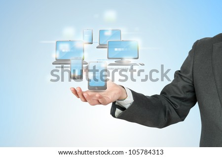 New technology cloud compute concept - stock photo