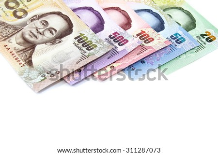 New Thailand bank notes - stock photo