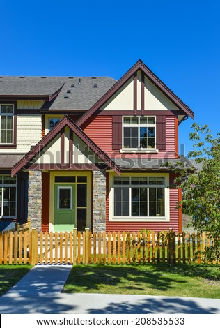 New townhouse in Chilliwtack, British Columbia. - stock photo