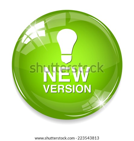 New version button - stock photo
