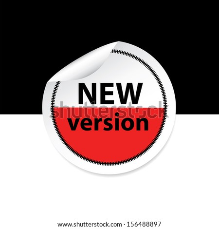 New version red color sticker, label, sign. jpeg format - stock photo