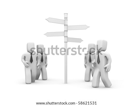 New ways for business! - stock photo