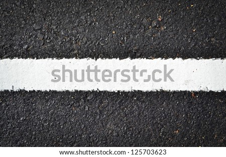 new white line on the road texture - stock photo