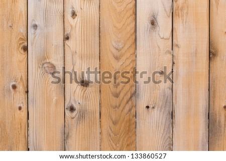 New wood fence - stock photo
