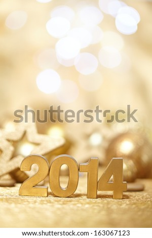 New 2014 year - stock photo