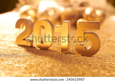 New 2015 Year - stock photo