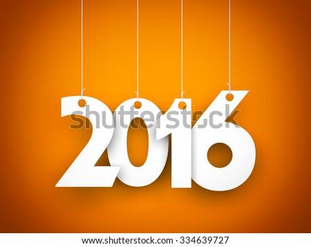 New year - 2016 - stock photo
