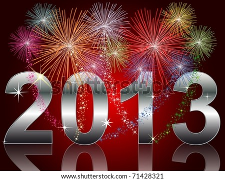 New Year 2013 - stock photo