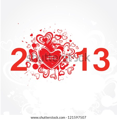New year 2013 . Abstract poster. Raster version - stock photo