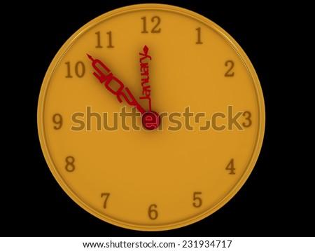 new year alert clock - stock photo