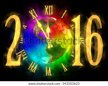New year 2016 America - stock photo