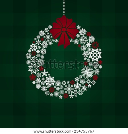 new year and christmas greeting card - stock photo