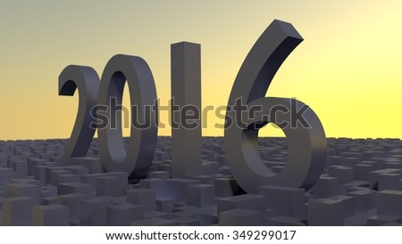 new year 2016  and  sunrise abstract background - stock photo