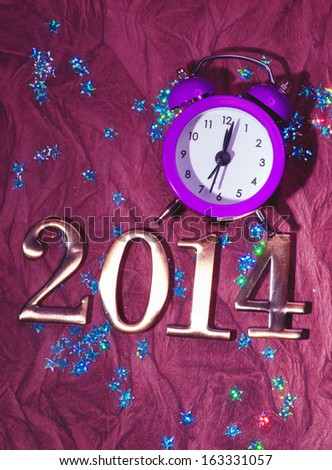 New Year 2014 background - stock photo
