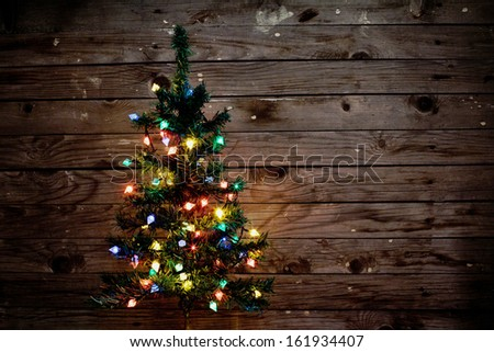 new year background with christmas tree - stock photo