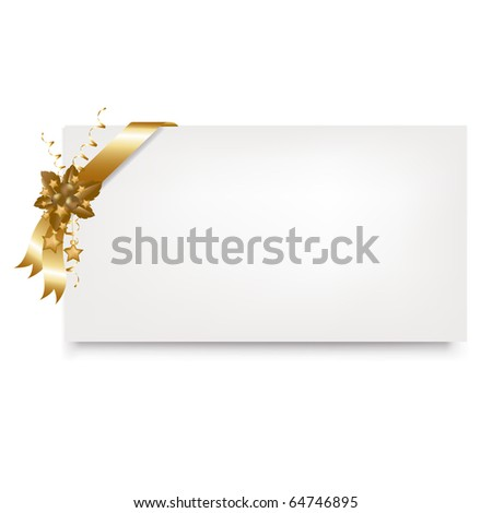 New Year Blank Gift Tag, Isolated On White Background - stock photo