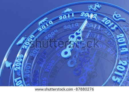 New year 2012 calendar - stock photo