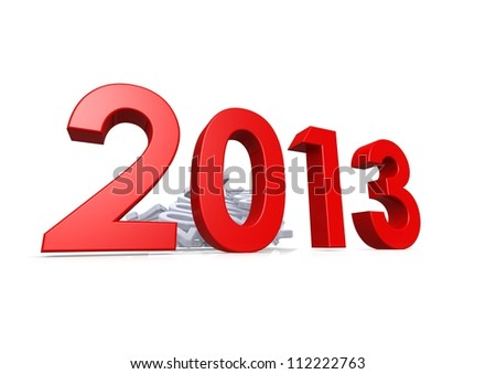 New Year Celebration 2013 - stock photo