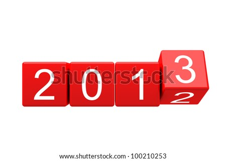 New year 2013 changing - stock photo