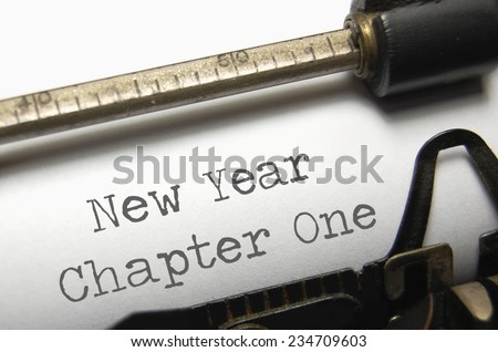 New year chapter one - stock photo