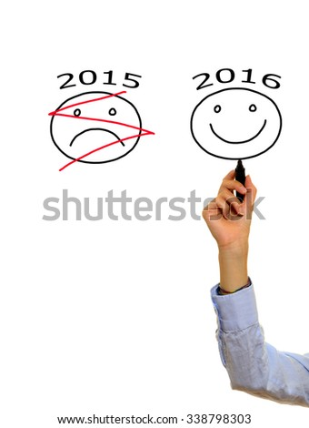 New Year concept, 2016 - stock photo