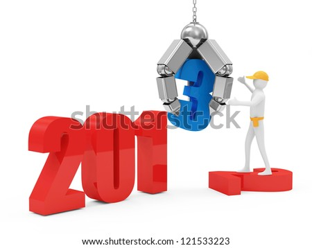 New Year 2013 Concept Image - stock photo