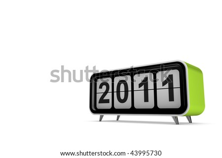 New year 2011 concept in 3d - stock photo