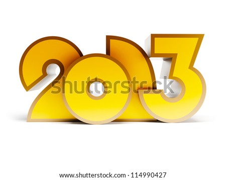 new year 2013, 3d render - stock photo