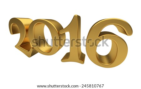 New 2016 Year 3d text on white background - stock photo